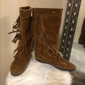 Suede Minnetonka Fringe Boots